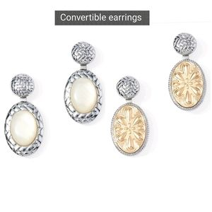 Chico's Convertible Drop Earrings New on Card